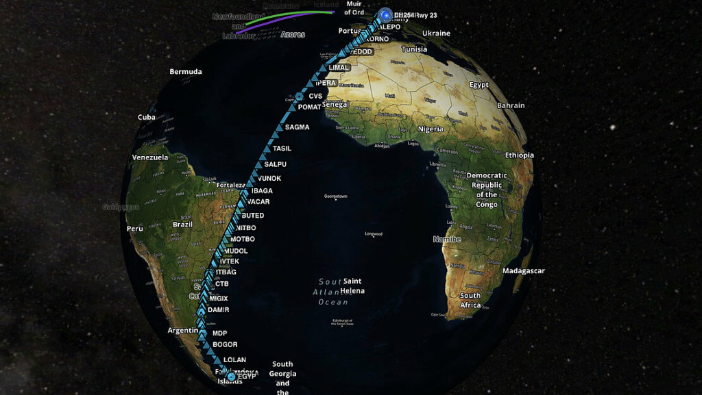 longest non-stop flight