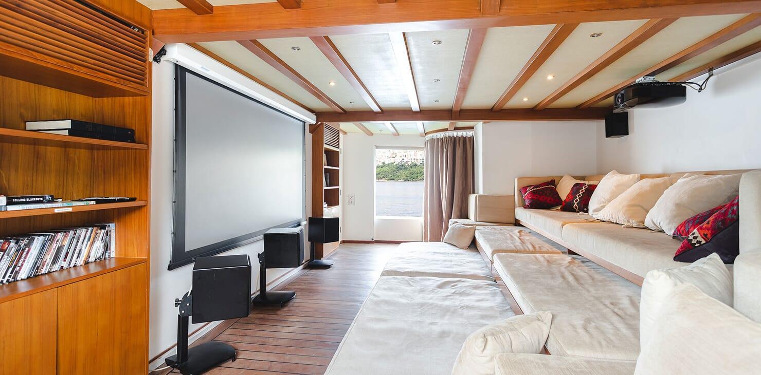 Motor Yacht DOT Cinema Room