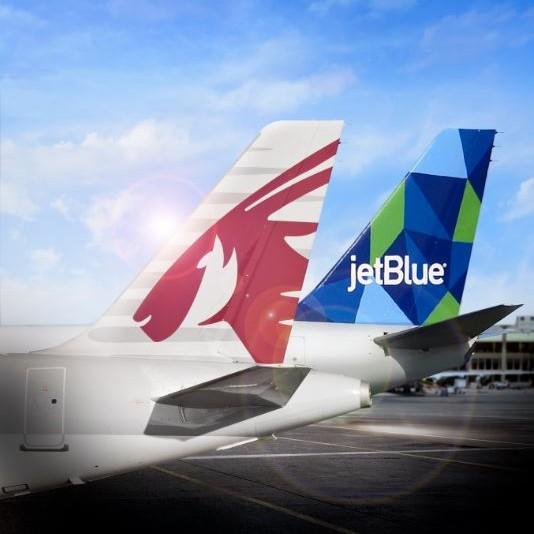 Qatar Airways and Jetblue